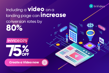 InVideo 75% off banner