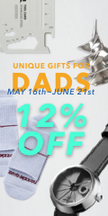 """Starting from May 16th to May 23rd, enter discount code """"DEARDADDY12%"""" and knock an extra 12% off on all items. Now go make your daddy proud."""