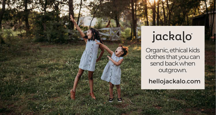 Organic, ethical kids clothes that you can send back when outgrown: Jackalo, shop now at hellojackalo.com