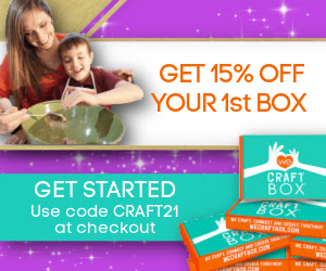 Get 15% Off your 1st Box at We Craft Box! Use Code: CRAFT21 at checkout. Shop Now!