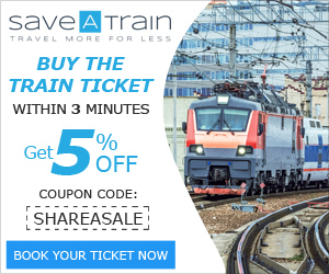 Get 5% off on train tickets