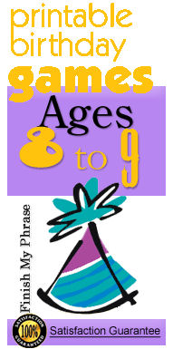 Birthday games age 8-9