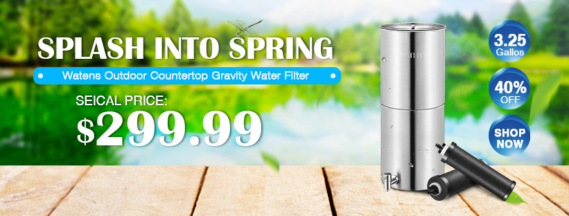Outdoor Stainless Steel Countertop Gravity Water Filter