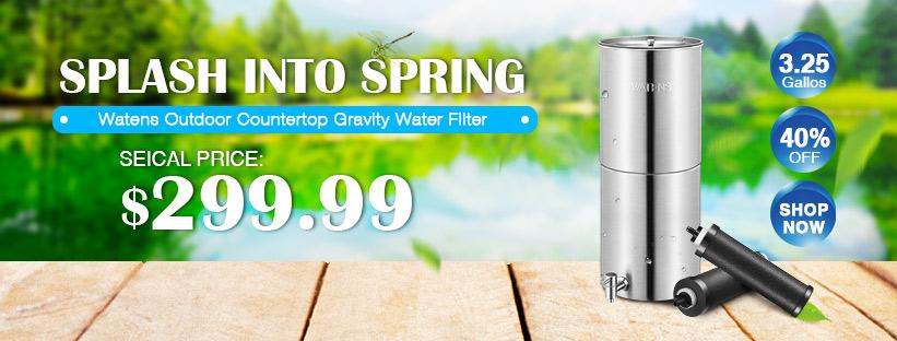 Outdoor Stainless Steel Countertop Gravity Water Filter