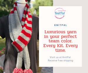 Show your support for your favorite sports team with KnitPal luxury team color yarn
