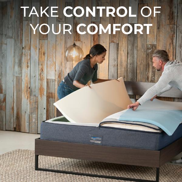 Couple adjust layers of sleepiphany mattress to change each side's comfort level