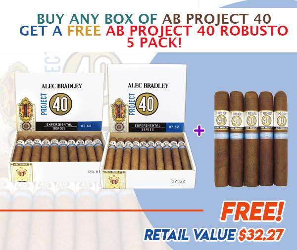 ALEC BRADLEY P40 email june 2021 - Buy Any Box of Alec Bradley Project 40 Get a Free Alec Bradley Project 40 Robusto Five Pack!