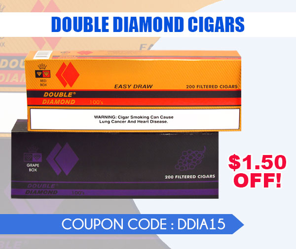 DOUBLE DIAMOND CIGARS email JUNE 2021 - Double Diamond Cigars $1.50 Off!