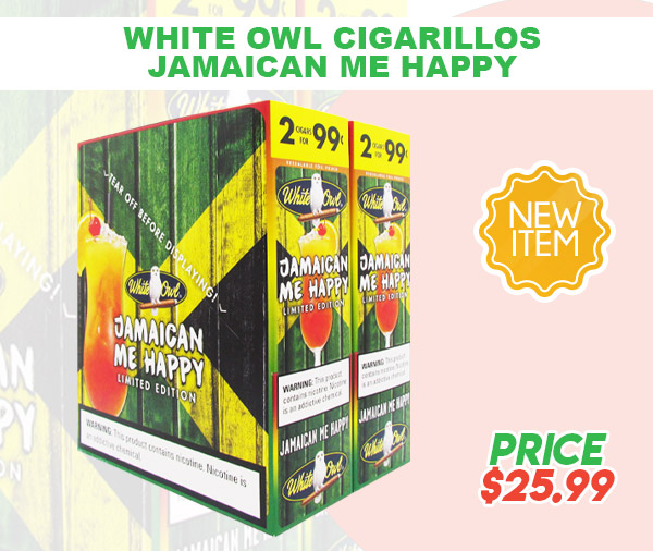 WHITE OWL CIGARILLOS JAMAICAN ME HAPPY email JUNE 2021 - New Item! White Owl Cigarillos Jamaican Me Happy
