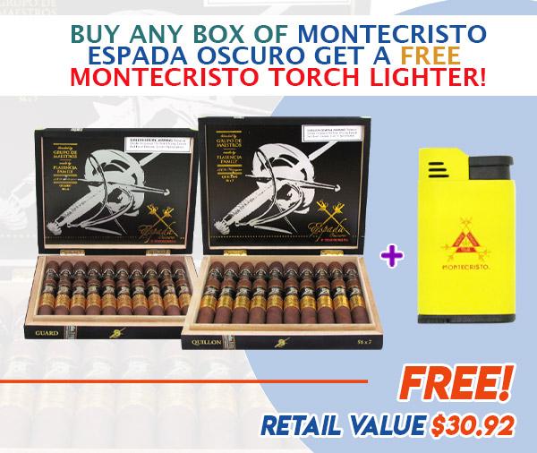 montecristo espada email june 2021 - Buy Any Box of Montecristo Espada Oscuro Get a Free Montecristo Torch Lighter!