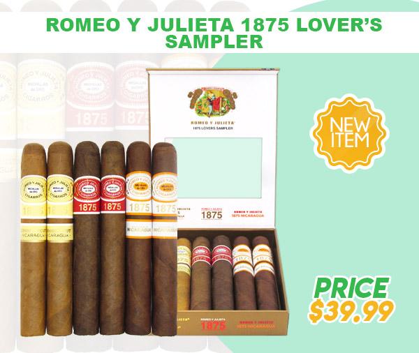 New Item! Romeo Y Julieta 1875 Lover's Sampler