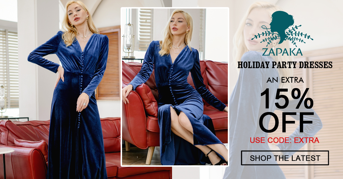 Extra 15% Off Holiday dresses on Zapaka