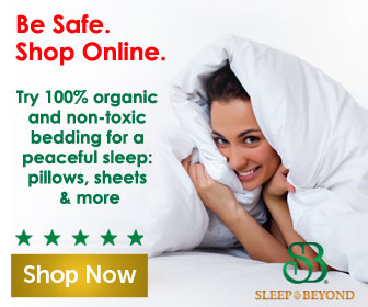 Try 100% organic and non-toxic bedding for a peaceful sleep.