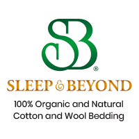 100% organic and natural cotton and wool bedding.
