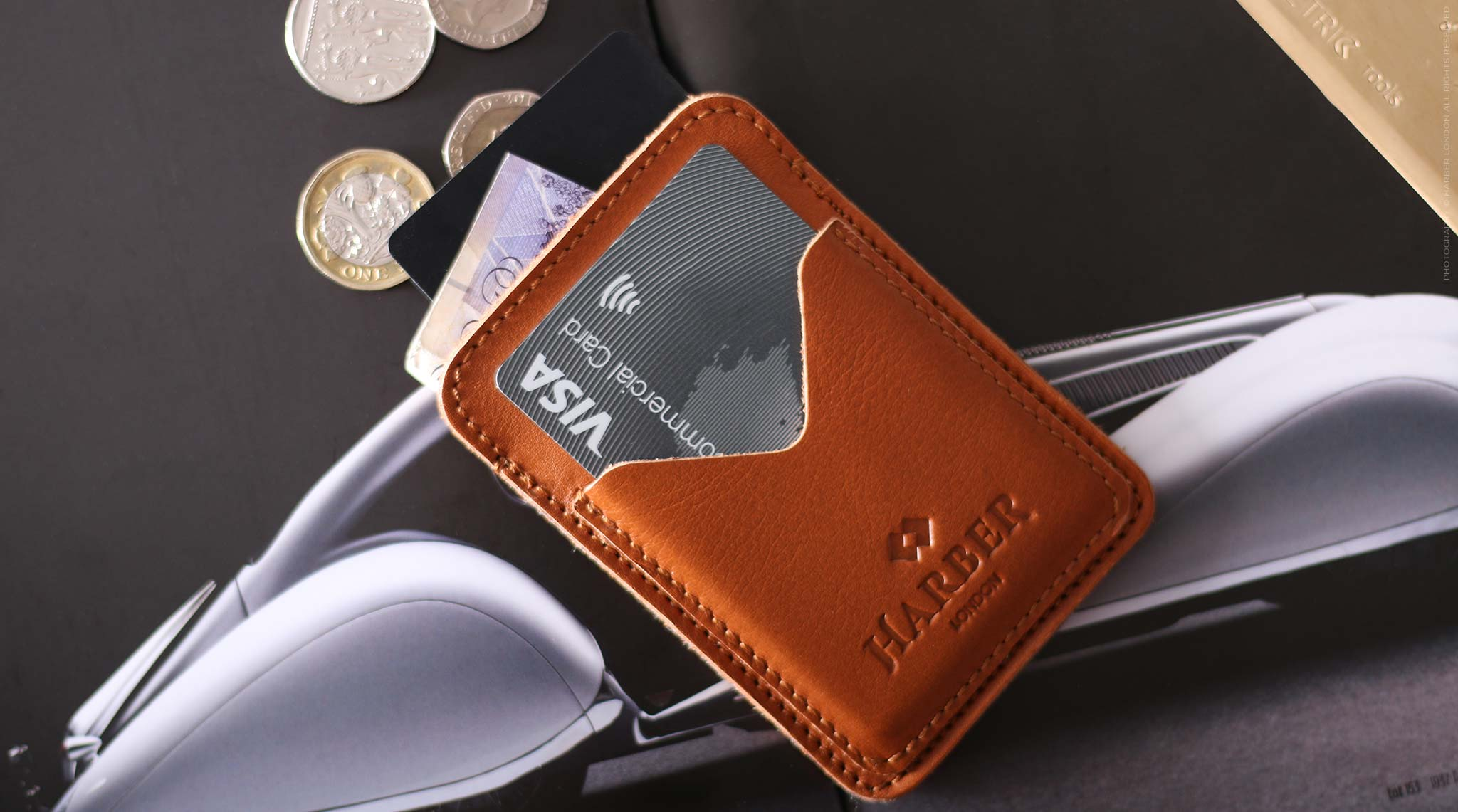 Classic Leather Card Holder - 3 Pocket