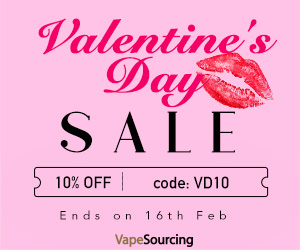 Extra 10%OFF for Vapesourcing Valentine's Day Sale