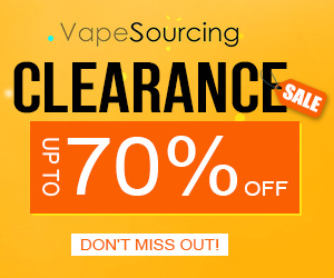Up to 70% OFF for Vapesourcing Clearance Sale