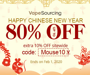 Extra 10% OFF Coupon for Vapesourcing Spring Festival 2020 Sale