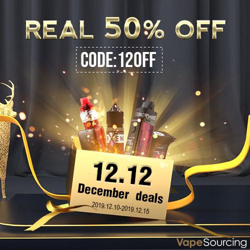 Vapesourcing 12.12 Sale + Sitewide Coupon+ Half-Price Deals