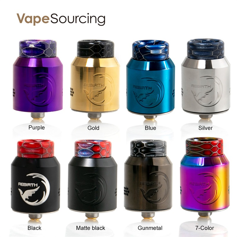 vapesourcing.com - $12.99 for Hellvape ReBirth BF RDA 24mm Rebuildable Dripping Atomizer