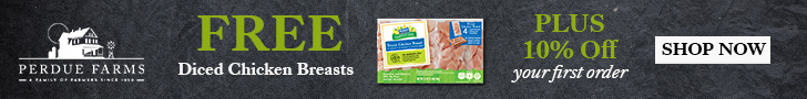 FREE Diced Chicken Breasts + 10% Off Promo