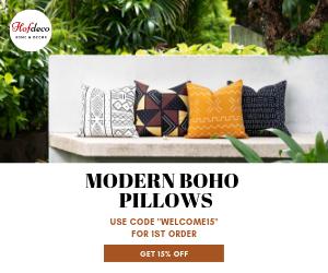 hofdeco mudcloth boho pillow