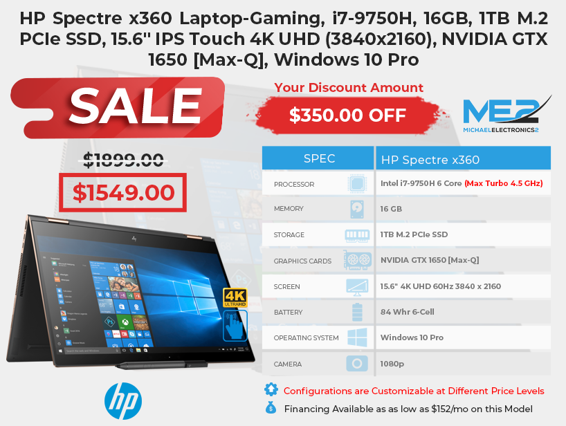 HP Spectre x360 11 7 19 Sale