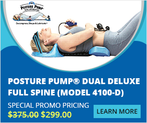 $76 OFF On Posture Pump® Dual Deluxe Full Spine (Model 4100-D)