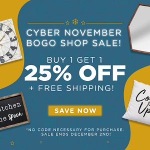 Buy One Get One 25% Off + FREE SHIPPING