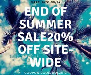 End of Summer Sale 20% Off Site-Wide