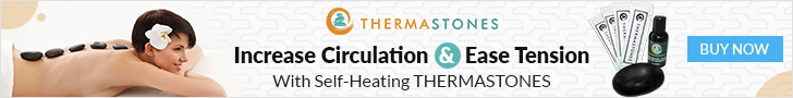 Increase circulation and ease tension With Self - Healing Thermastones