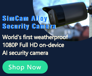 SimCam AIloy Outdoor Security Camera