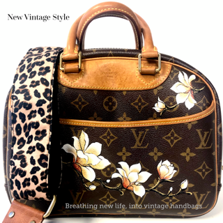 Vintage Louis Vuitton that has been hand painted by New VIntage Style