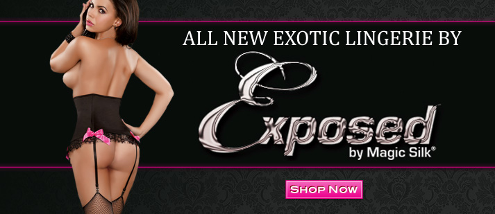 All New Sexy Lingerie by Exposed and Magic Silk at Wicked Temptations