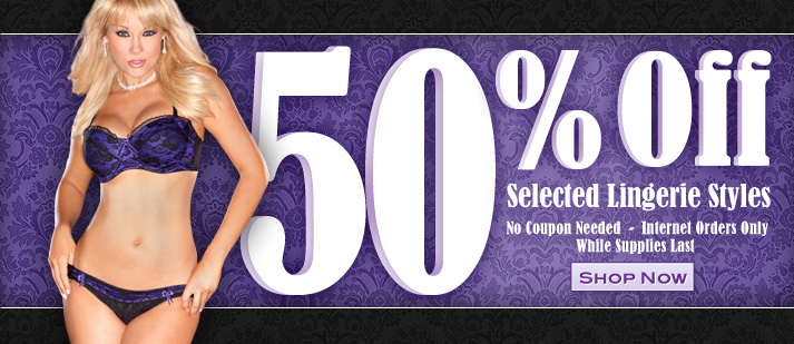 50% Off Selected Lingerie Styles