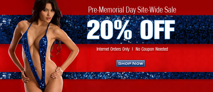 Pre-Memorial Day Site-Wide 20% Off Sale
