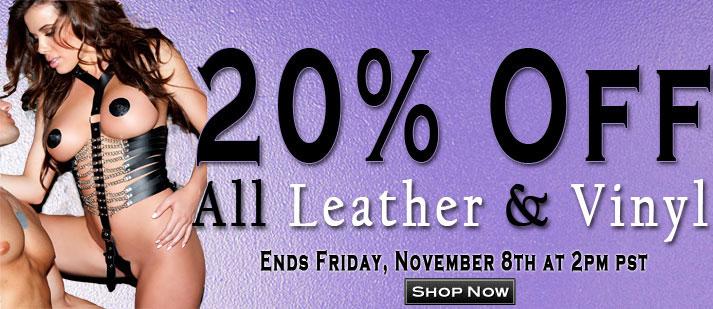 20% Off Leather & Vinyl