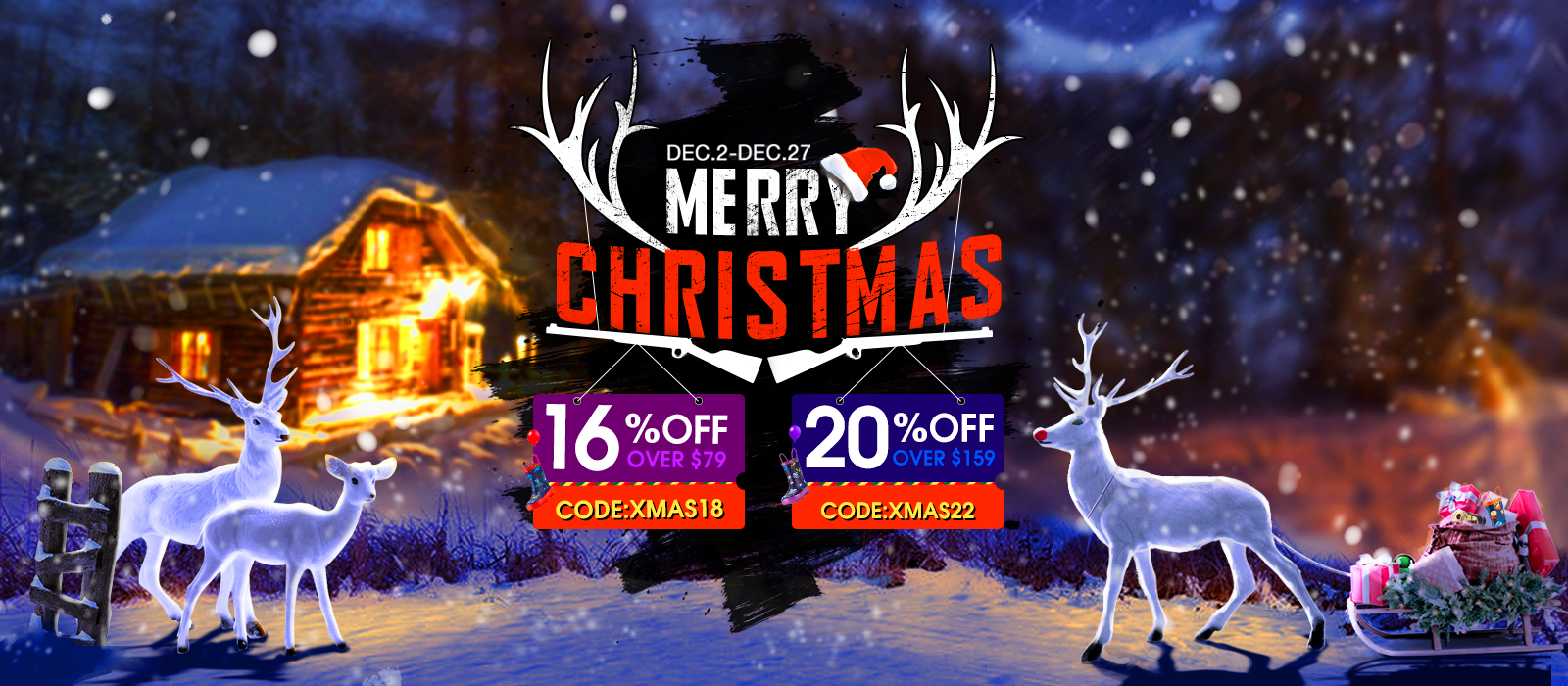 Up to 20% off on Christmas Deals
