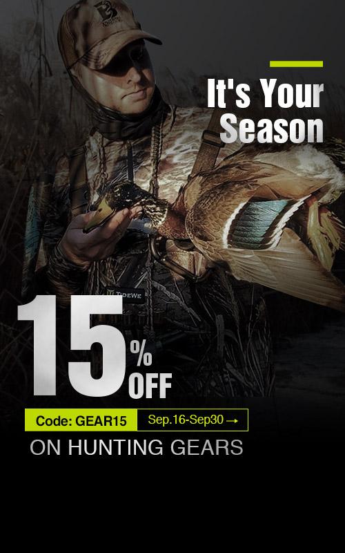 15% off on Tidewe Hunting Gears