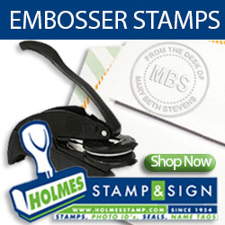 Shop Embossing Stamps at Holmes Stamp & Sign