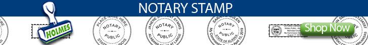 Shop Notary Stamps & Seals at Holmes Stamp & Sign
