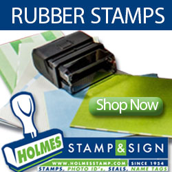 Shop Rubber Stamps at Holmes Stamp & Sign