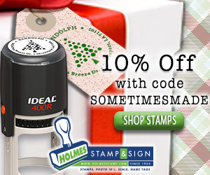 Save 10% with code SOMETIMESMADE at Holmes Stamp & Sign