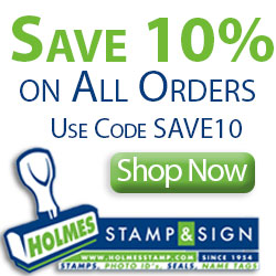 Save 10% On All Orders - Use code SAVE10 at Homes Stamp & Sign