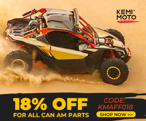 """Use coupon code""""KMAFF018""""to enjoy a 18% off for Can-Am Parts."""