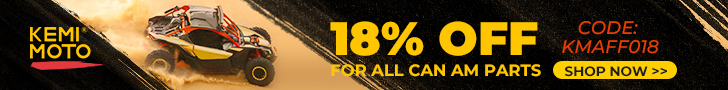 "Use coupon code""KMAFF018""to enjoy a 18% off for Can-Am Parts."