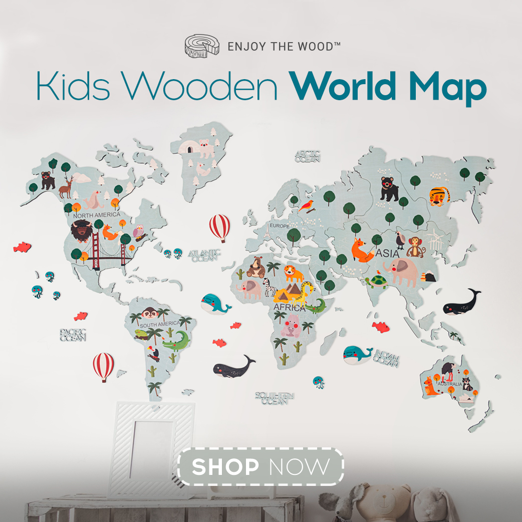Wall Art Decot World Map