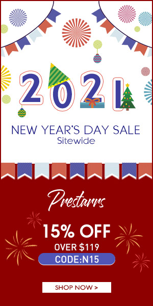 Prestarrs New Year's Day 15% OFF $119 Code: N15