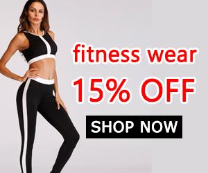 fitness wear 15% off