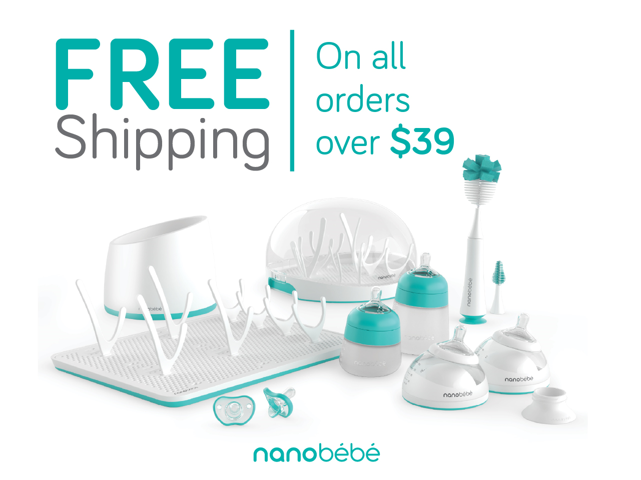 Free shipping on all Nanobébé orders over $39 - Ultimate Set shown